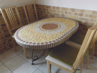 Beautiful table jardin imitation bois pictures awesome - Fabriquer une table de jardin en beton ...