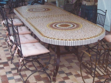 Table de jardin en béton - CEMATABLE